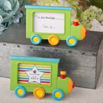 Little Train Engine Design Picture Place Card Frame